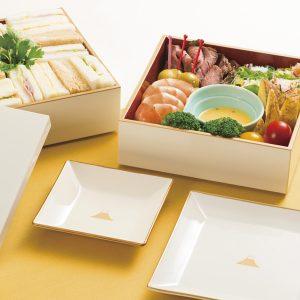 富士山シリーズのお重と取り皿